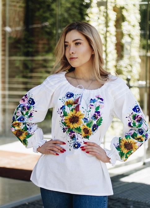 Купити жіночу вишиту сорочку Мар'яна білав Україні від Галичанка фото 1
