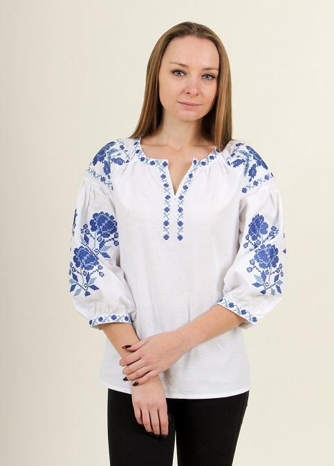 Купити жіночу вишиту сорочку Ніжність (білий)в Україні від Галичанка фото 1