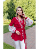 Купити жіночу вишиту сорочку Паморозь (червона з білим)в Україні від Галичанка фото 1