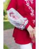 Купити жіночу вишиту сорочку Паморозь (червона з білим)в Україні від Галичанка фото 2
