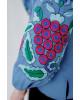 Купити жіночу вишиту сорочку  П'янкий аромат (джинс голубий)в Україні від Галичанка фото 3