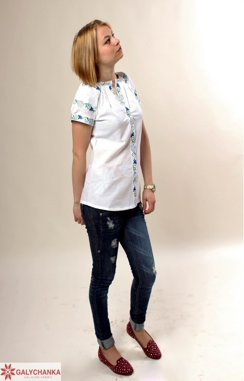 Купити жіночу вишиту сорочку Пташкав Україні від Галичанка фото 1
