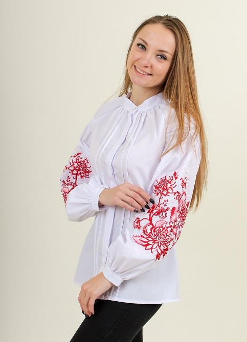 Купити жіночу вишиту сорочку Рожева симфоніяв Україні від Галичанка фото 1