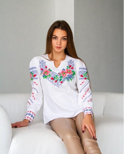 Купити жіночу вишиту сорочку Шипшинав Україні від Галичанка фото 1
