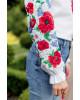 Купити жіночу вишиту сорочку Солов'їна пісня бохо (біла)в Україні від Галичанка фото 3