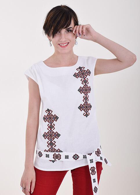 Купити жіночу вишиту сорочку Сварог (біла)в Україні від Галичанка фото 1
