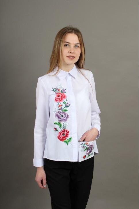 Купити жіночу вишиту сорочку Весняна радість (біла)в Україні від Галичанка фото 1