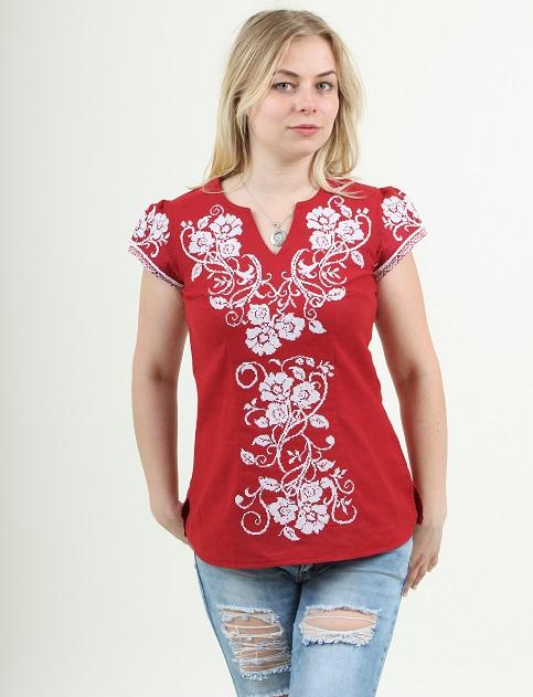 Купити жіночу вишиту сорочку Вишиваночка (червона)в Україні від Галичанка фото 1
