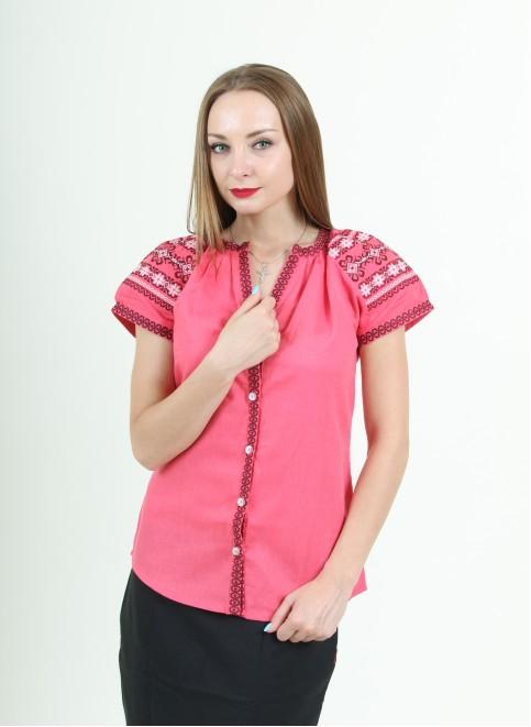 Купити жіночу вишиту сорочку Зіронька (червона)в Україні від Галичанка фото 1