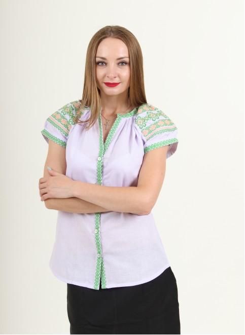 Купити жіночу вишиту сорочку Зіронька (бузок)в Україні від Галичанка фото 1