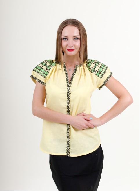 Купити жіночу вишиту сорочку Зіронька (жовта)в Україні від Галичанка фото 1