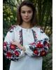 Купити жіночу вишиту сорочку Анастасія (біла з чорним)в Україні від Галичанка фото 2