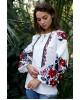 Купити жіночу вишиту сорочку Анастасія (біла з чорним)в Україні від Галичанка фото 1