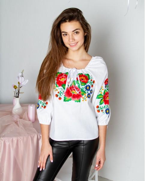Купити жіночу вишиту сорочку Галіція (біла)в Україні від Галичанка фото 1