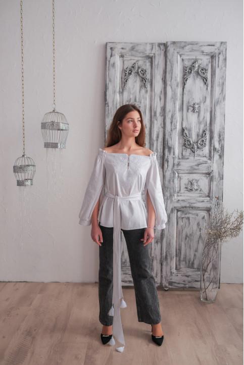 Купити жіночу вишиту сорочку Княжий Амулет (біла)в Україні від Галичанка фото 1