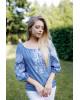 Купити жіночу вишиту сорочку Росана (джинс темний)в Україні від Галичанка фото 2