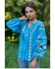 Купити жіночу вишиту сорочку Трембіта (голуба)в Україні від Галичанка фото 1