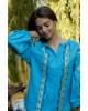 Купити жіночу вишиту сорочку Трембіта (голуба)в Україні від Галичанка фото 4