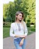 Купити жіночу футболку вишиванку Колорит ( біла з оливкою) в Україні від Галичанка фото 1