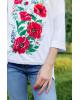 Купити жіночу футболку вишиванку Щастя (біла) в Україні від Галичанка фото 2