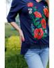 Купити жіночу футболку вишиванку Щастя ( синя) в Україні від Галичанка фото 2