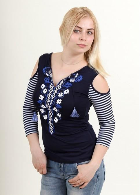 Купити жіночу футболку вишиванку Вернісаж в Україні від Галичанка фото 1