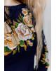 Купити жіночу футболку вишиванку Тіффані плюс (т.синя з золотом) в Україні від Галичанка фото 3