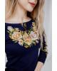 Купити жіночу футболку вишиванку Тіффані плюс (т.синя з золотом) в Україні від Галичанка фото 2