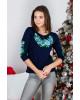 Купити жіночу футболку вишиванку  Тіффані плюс (синя з голубим) в Україні від Галичанка фото 2