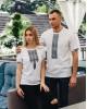 Купити жіночу футболку вишиванку Фортуна (біла з сірим) в Україні від Галичанка фото 2