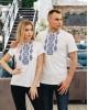 Купити жіночу футболку вишиванку Людмила (біла з синім) в Україні від Галичанка фото 3