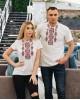 Купити жіночу футболку вишиванку Людмила (біла з червоним) в Україні від Галичанка фото 2