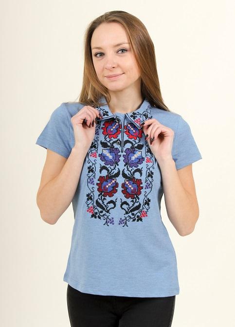 Купити жіночу футболку вишиванку Ватра в Україні від Галичанка фото 1