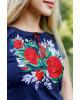 Купити жіночу футболку вишиванку Моніка (т.синя) в Україні від Галичанка фото 2