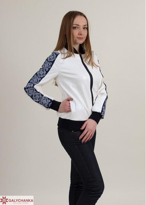 Жіноча куртка з вишивкою Стиль (біла) – купити в Україні від Галичанка фото 1