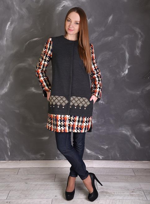 Купить пальто с вышивкой Анета в Украине от Галычанка фото 1