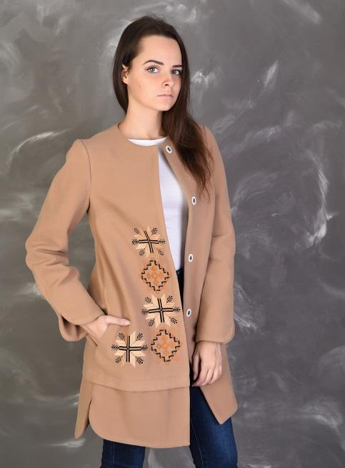 Купити пальто з вишивкою Зорянав Україні від Галичанка фото 1