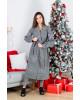 Купити пальто з вишивкою Парижанка (чорна)в Україні від Галичанка фото 1