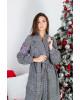 Купити пальто з вишивкою Парижанка (чорна)в Україні від Галичанка фото 3