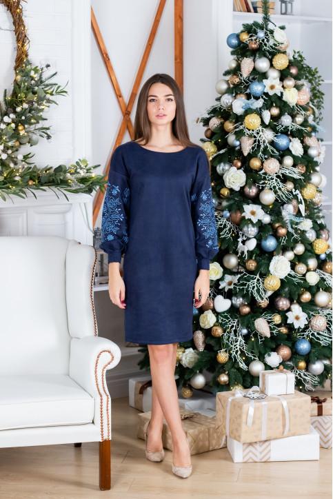 Купити вишиту сукню  Скіфія (синя з голубим) в Україні від виробника Галичанка фото 1