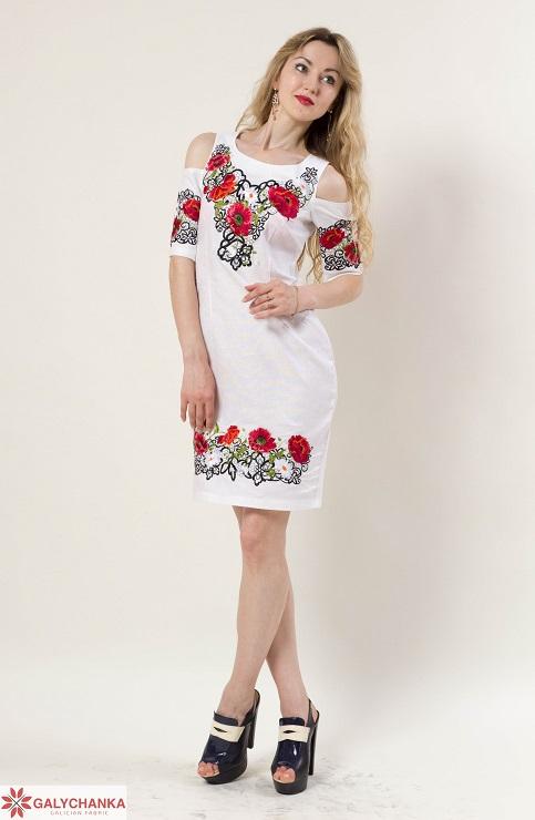 Купити вишиту сукню  Афіна (біла) в Україні від виробника Галичанка фото 1