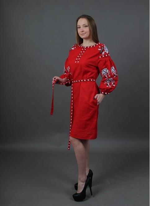 Купити вишиту сукню Цвіт троянди (червоне) в Україні від виробника Галичанка фото 1