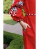 Купити вишиту сукню Цвіт троянди (червоне) в Україні від виробника Галичанка фото 3