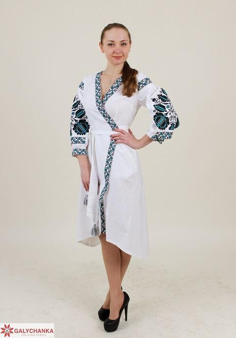 Купити вишиту сукню Дерево життя (біла) в Україні від виробника Галичанка фото 1
