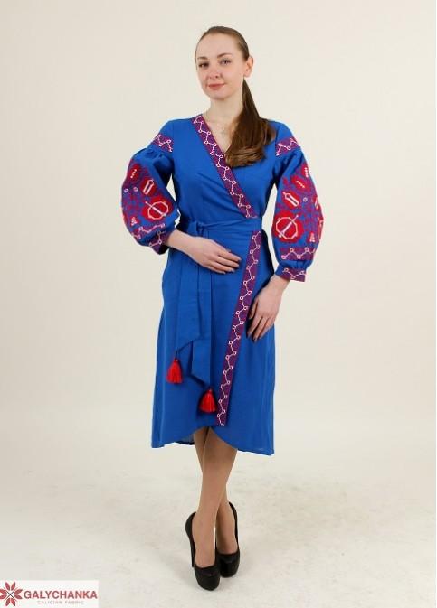 Купити вишиту сукню Дерево життя (електрик) в Україні від виробника Галичанка фото 1