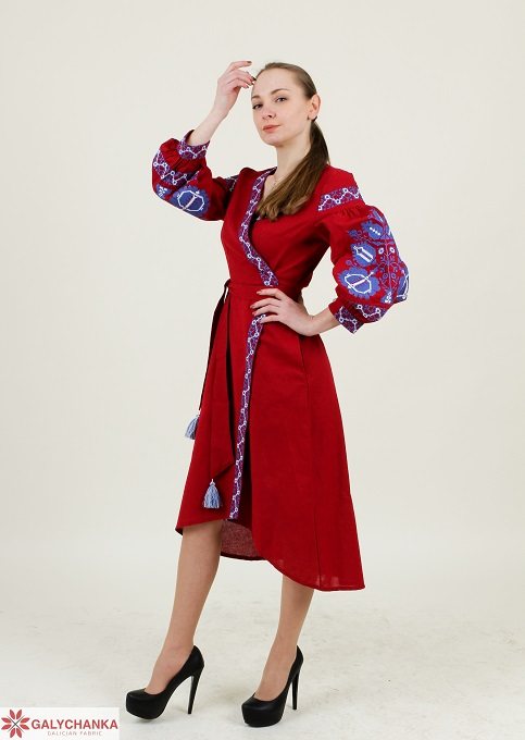 Купити вишиту сукню Дерево життя (вишневе) в Україні від виробника Галичанка фото 1