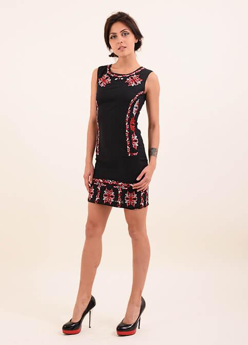 Купити вишиту сукню Ефект (чорне) в Україні від виробника Галичанка фото 1
