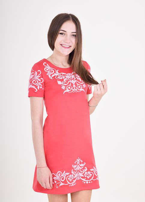 Купити вишиту сукню Елегія (червоне) в Україні від виробника Галичанка фото 1