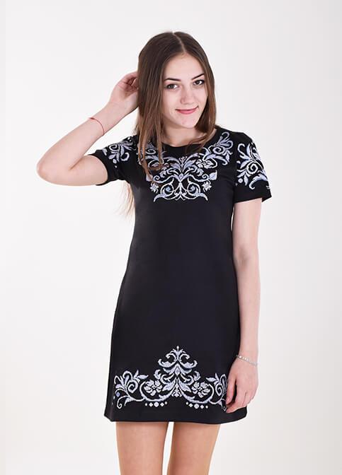 Купити вишиту сукню Елегія (чорне) в Україні від виробника Галичанка фото 1