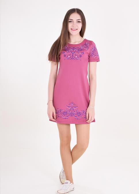 Купити вишиту сукню Елегія (фіолетове) в Україні від виробника Галичанка фото 1